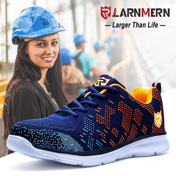 Lantern Safety Shoes Women Steel Toe Working Protection Sneaker For Breathable Lightweight Anti-Piercing