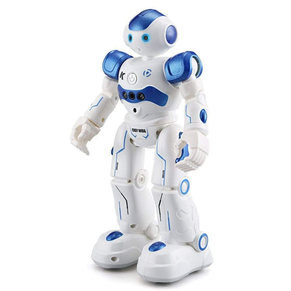 Leroy Rc Robot Intelligent Programming Remote Control Robotica Toy Biped Humanoid For Children Kids Birthday Present Blue Blue