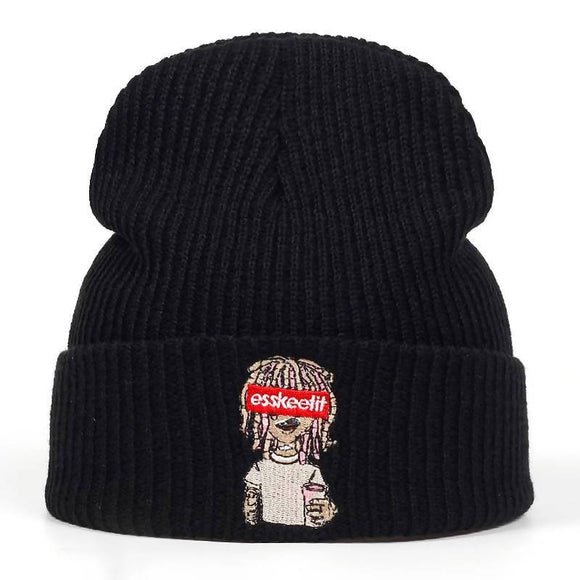 Lil Peep Esskeetit Embroidery Knitted Skullies Beanie Cap