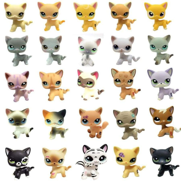 Lps Pet Shop Toys Cute Short Hair Cat Classic Rare Full Set Of Cosplay Action Model Figure Children Christmas Girl