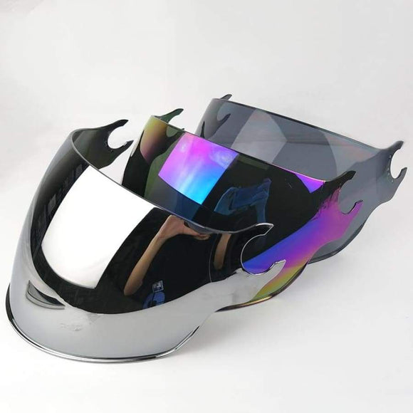 Ls2 Of562 Open Face Half Motorcycle Helmet Visor Replace Sunglasses Silver Colorful Black Extra Lens For Original Helmets