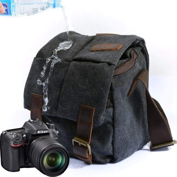 M137 Portable Vintage Canvas Micro DSLR Camera Shoulder Bag Messenger for Canon Nikon Sony Olympus