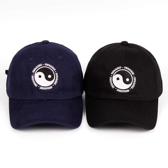 Mac Miller Dad Hat 100% Cotton Swimming Yin & Yang Gossip Embroidered Snapback Baseball Cap For Men Women Blue