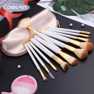 Makeup Brushes Set With Case 12 Piece Premium Cosmetic Synthetic Foundation Blending Blush Eyeliner Lip Brush