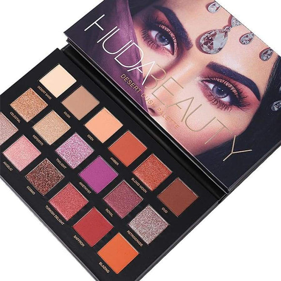 Makeup Huda Beauty Palette Eyeshadow 18 Colors Desert Kylie Jenner Matte Glitter Set