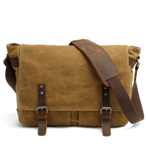 Male Briefcases Business Men Messenger Bags Canvas Crazy Horse Leather Travel Crossbody Shoulder B72