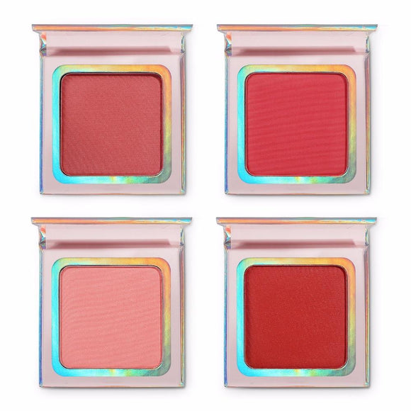 Matte Shimmer Blusher Foundation Face Makeup Palette Long-Lasting Check Blush Powder Pink Orange Red Maquiagem
