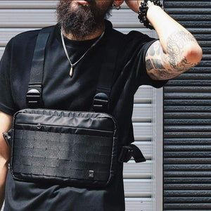 Men Chest Rig Hip Hop Streetwear Functional Bag Cross Shoulder Adjustable Tactical Bags Kanye Waist Packs