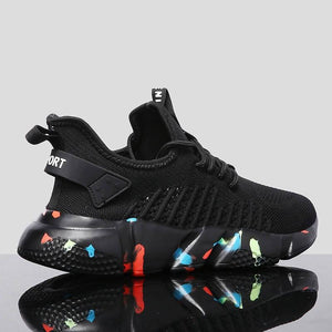 Men Running Shoes Ultralight Breathable Hollow Graffiti Bottom Comfortable Outdoor Walking Jogging Sneaker Shoes Masculino Shoes