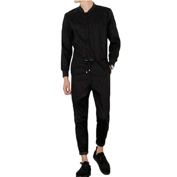 Men's Autumn Jumpsuit Casual Trousers Long Sleeved A Piece Pants Overalls Tooling