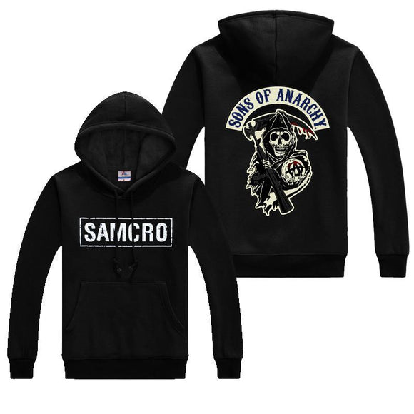 Men's Autumn Sons Of Anarchy Coats Samcro Soa Sportswear Hoodies Casual Sweatshirts Hip Hop Print Long Sleeves Hoodie 1 L