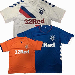 Men's Glasgow Rangers T-Shirt 3 Colors Casual Shirts Tshirts Leisure Scottish Print Tees Tops Cotton Polyester