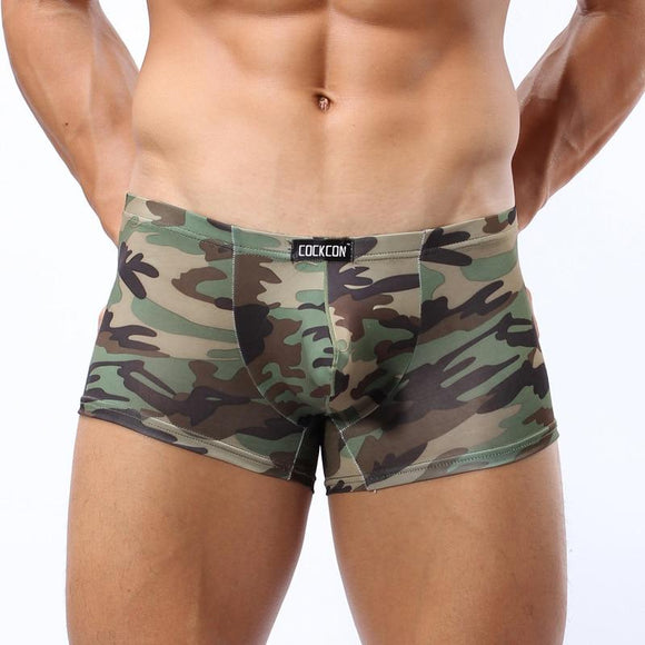 Mens Underwear Plus Size Men's Boxer Shorts Camouflage Panties Nylon Male Soldier