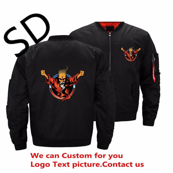 Men's Usa Size Thunderdome Jacket 25 Years Of Hardcore Jackets & Coats Ropa For Men Streetwear Bomber Black 4XL