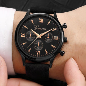 Mens Watches Watch Men Business Quartz-Watch Minimalist Belt Male