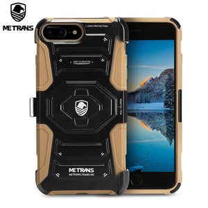Metrans Three-Piece Case Anti-Knocking Anti-Falling Pc Shell Cover For Iphone 7 Plus