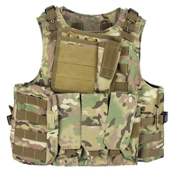 Military Tactical Vest Assault Airsoft Plate Carrier Multicam Army Molle Mag Ammo Chest Rig Paintball Body Armor Harness