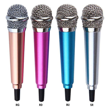 Mini Microphone With Tieline Computer Recording Equipment Small Mobile Phone Sing Special