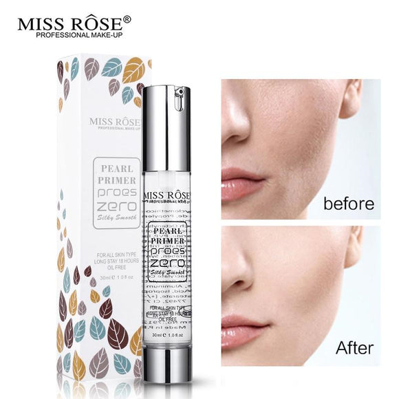Miss Rose Face Primer Make Up Base Easy to Wear Invisible Pores Gel Primer Moisturizer Lotion for Face Foundation Makeup (transparent)