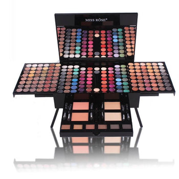 Miss Rose Makeup 180 Colors Matte Shimmer Palette Powder Blush Eyebrow Contouring Beauty Kit Box For Girl Friend H7Jp