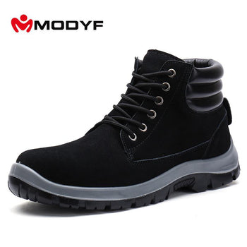 Modyf Men Steel Toe Cap Work Safety Shoes Outdoor Ankle Boots Puncture Proof Footwear