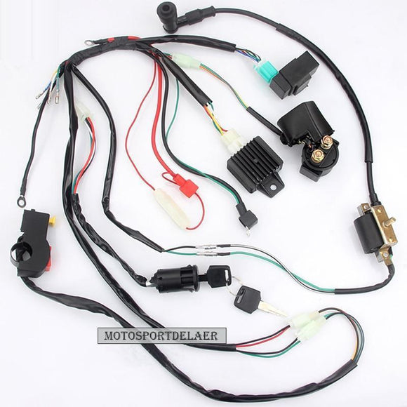 Motorcycle Cdi Wiring Harness Loom Ignition Solenoid Coil Rectifier For 50Cc 110Cc 125Cc Pit Quad Dirt Bike Atv