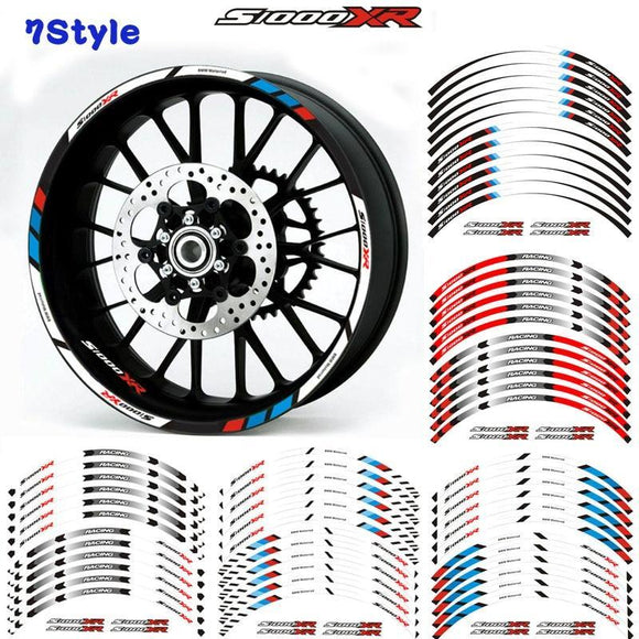Motorcycle Wheel Decals Reflective Stickers Rim Stripes 7 Color For Bmw S1000Xr S1000 Xr Motorbike A