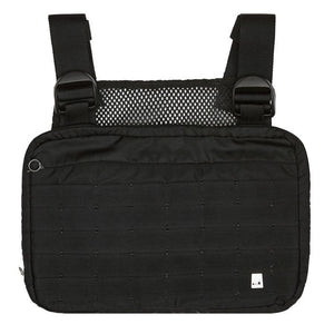 Moward Black Chest Rig Bags Streetwear Waist Bag Functional Tactical Cross Shoulder Bolso Kanye West Hip Hop