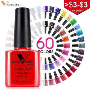 Nail Art Design Manicure Monalisa 60 Color 7.5Ml Soak Off Enamel Gel Polish Uv Lacquer Varnish