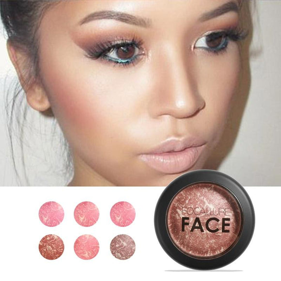Natural Face Pressed Blush Makeup Baked Blush Palette Baked Cheek Colors Cosmetic Face Shadow Press Powder