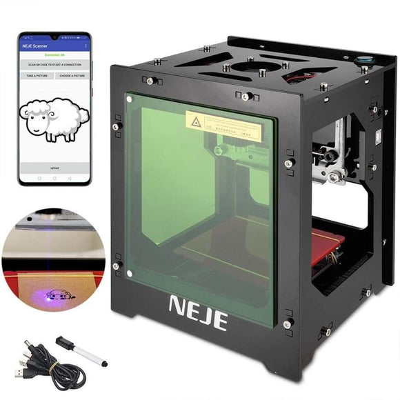 Neje 1000Mw 3000Mw Mini Usb Laser Engraver Diy Desktop Cnc Router Engraving Machine Marking Cutter For Wood