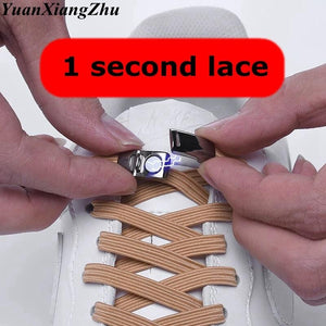 New Elastic Magnetic Locking ShoeLaces Quick No Tie Shoe laces Kids Adult Unisex Shoelace Sneakers Shoe Laces Strings