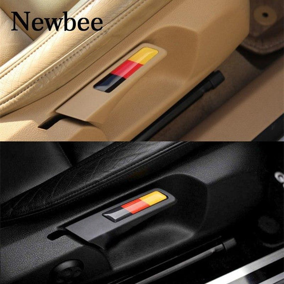 Newbee Car Sticker Motorcycle Decal Lift Wrench Handle Seat Insert Trim For Volkswagen Golf 5 6 Mk5 Mk6 Gti Germany Flag Emblem