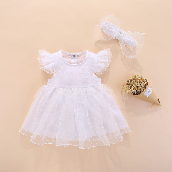 Newborn Baby Dress Lace Set 3 Months Clothing My First Birthday 6 Clothes Girl Summer Princess Tutu Romper Bodysuit