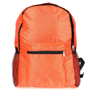 Nylon Folding Water Resistant Backpack School Bag For Camping Hiking