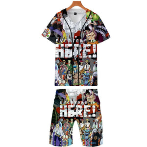 One Piece-stampede 3d Anime Men Basketball Shirts+shorts Set Summer 2019 Movie & Tv Costumes Shirt Homme Male Cartoon Suit Sets