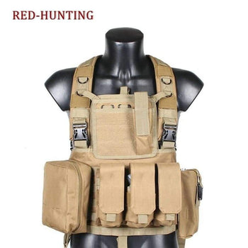 Outdoor Water Pouch Vest Military Usmc Tactical Combat Molle Rrv Chest Rig Paintball Harness Airsoft