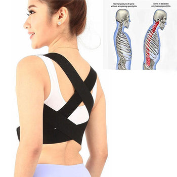 Portable Posture Corrector Support Brace for Thoracic Kyphosis Clavicle Shoulder Back Pain Relief Lumbar 5 Size