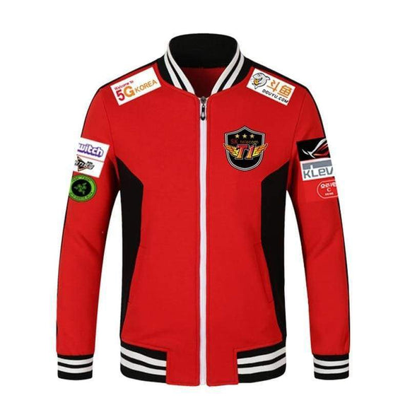 Print Type Lol Lck Skt T1 S7 Team Jersey Sk Telecom Jacket Baseball Coat Men Faker Peanut Bang Coats