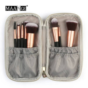 Professional Portable Cosmetic Makeup Brush Bag Marble Case Beauty