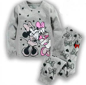Pyjamas girls cotton cute sleepwear Sets