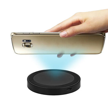 Q5 Wireless Charger Phone Mount Charging Pad Qi Enabled Devices (Black)