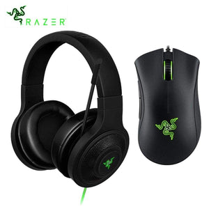 Razer Kraken Essential Headphone Headset With Mic Deathadder 6400Dpi Gaming Mouse For Pc/Laptop/Phone Gamer