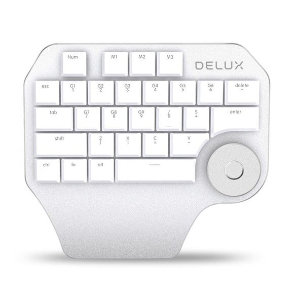 Refurbished Delux T11 Wired Designer Keypad 28 Keys Keyboard With Smart Knob