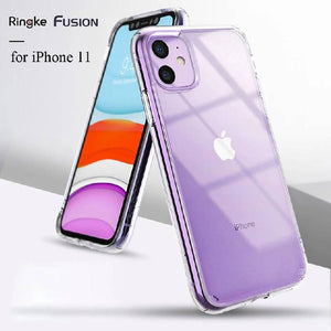 Ringke Fusion Clear PC Back and Soft TPU Frame Hybrid Military Drop Protection Case iPhone 11
