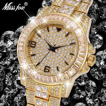 Role Watches Men Missfox Rolexable Waterproof Watch Male Clock Full Diamond Hublottttttttttttttttttttttttttttttttttttttttttttttttttttttttttttttt Unisex Quartz With Box