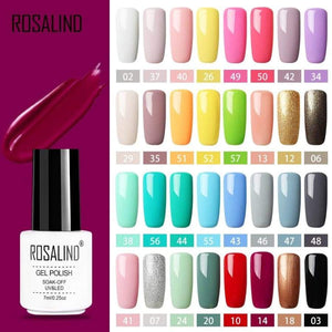 Rosalind Gel Polish Set All For Manicure Semi Permanent Vernis Top Coat Uv Led Varnish Soak Off Nail Art