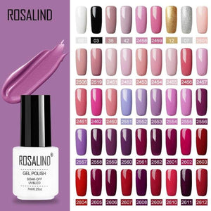 Rosalind Gel Polish Set Uv Vernis Semi Permanent Primer Top Coat 7Ml Poly Varnish Nail Art Manicure Lak Polishes Nails