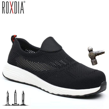 Roxdia Summer Lightweight Steel Toe Cap Men Women Work & Safety Boots Breathable Male Female Shoes Plus Size 36-45 Rxm 120
