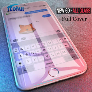 Royall Full 6D Edge Tempered Glass For Iphone X Xs 7 8 6 6S Plus Screen Protector On 10 Max Xr Protective